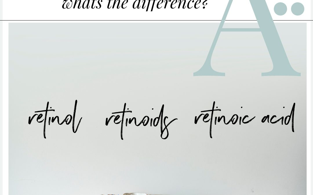 Retinol, Retinoids, Retinoic acid. What's the difference? What's the fuss?